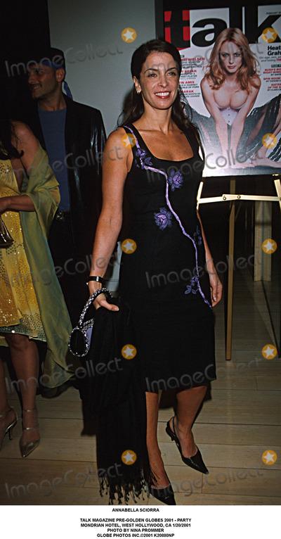 Annabella Sciorra Photo - Annabella Sciorra Talk Magazine Pre-golden Globes 2001 - Party Mondrian Hotel West Hollywood CA 1202001 Photo by Nina Prommer Globe Photos Inc2001