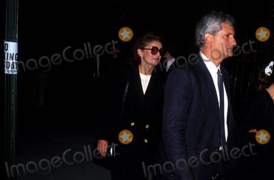 Jacqueline Kennedy Onassis Photo - Jacqueline Kennedy Onassis and Ed Schlossberg 8211990 Stephen Smith Funeral Photo by John BarrettGlobe Photos Inc Jacquelinekennedyonassisretro