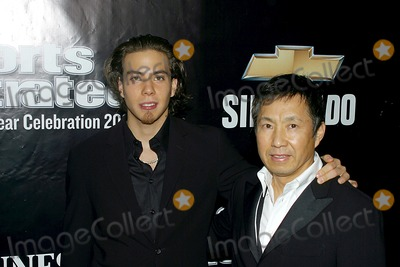 Apolo Ohno Photo - Sd1210 Sportsman of the Year Party Sponsored by Sports Illustrated Apolo Ohno and His Dad Tao 42 East 58 Th Street New York City Photorick MacklerrangefindersGlobe Photos Inc