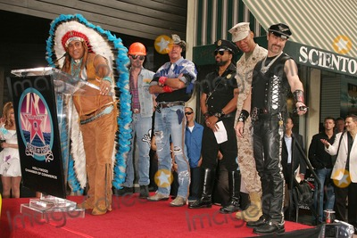 Village People Photo - the Village People Honored with a Star on the Hollywood Walk of Fame Hollywood Blvd Hollywood CA 091208 Felipe Rose of the Village People Photo Clinton H Wallace-photomundo-Globe Photos Inc
