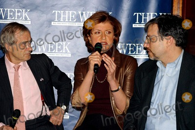Ariana Huffington Photo - K29530RM         SD0310THE WEEK MAGAZINE HOSTS AN IMPORTANT CONVERSATION ABOUT POLITICAL PROPAGANDA IN MEDIA BIAS LEFT OR RIGHTMICHAEL JORDANS THE STEAKHOUSE GRAND CENTRAL STATION NORTH BALCONYPHOTORICK MACKLER  RANGEFINDERS  GLOBE PHOTOS INC  2003HAROLD EVANS ARIANA HUFFINGTON AND ERIC ALTERMAN