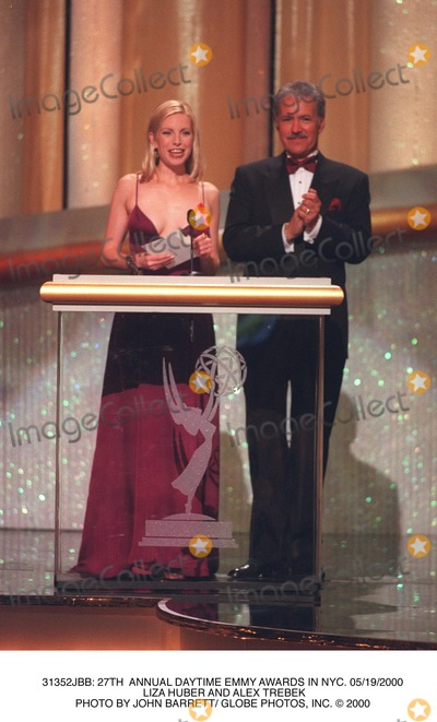 Alex Trebek Photo -  27th Annual Daytime Emmy Awards in NYC 05192000 Liza Huber and Alex Trebek Photo by John Barrett Globe Photos Inc