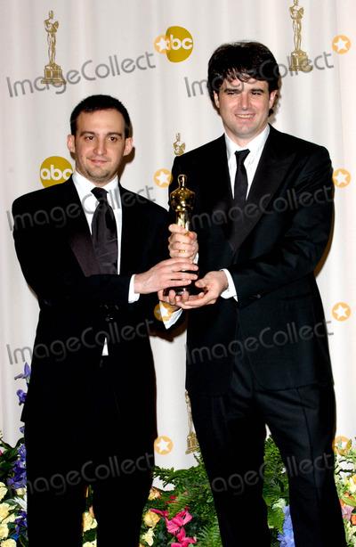 Alejandro Amenabar Photo - 77th Annual Academy Awards (Press Room) at the Kodak Theatre CA 2-27-2005 Photo Byfitzroy Barrett-Globe Photos Inc 2005 Alejandro Amenabar and Fernando Bovaira