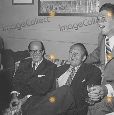 Art Linkletter Photo - Art Linkletter with Ronald Reagan and Phil Silvers F340-31a Supplied by Globe Photos Inc Artlinkletterretro