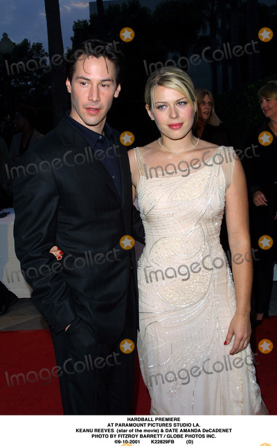 AMANDA DECADENET Photo - Hardball Premiere at Paramount Pictures Studio LA Keanu Reeves (Star of the Movie)  Date Amanda Decadenet Photo by Fitzroy Barrett  Globe Photos Inc 9-10-2001 K22829fb (D)