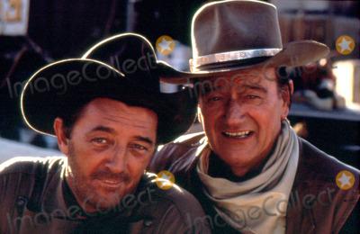 Robert Mitchum Photo - John Wayne and Robert Mitchum Eldorado Photo by Jr Hamilton  Globe Photos Inc