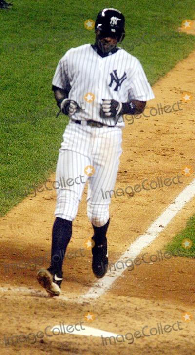 Alfonso Soriano Photo - Game 6 of the American League Championship Series at Yankee Stadium in the Bronx New York City 10152003 Photo John Barrett  Globe Photos Inc 2003 Alfonso Soriano