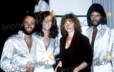 Bee Gees Photo - Bee Gees (mauricerobinbarry) with Barbara Streisand Photobob ShermanGlobe Photos Inc 1979 Mauricegibbretro