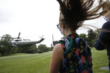 Photo - Donald Trump departs for Detroit