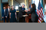 Photo - US Vice President Kamala Harris swears in Eric Lander in Washington
