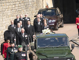 Peter Phillips Photo - Photo Must Be Credited Alpha Press 073074 17042021Princess Anne Princess Royal Prince Charles Prince of Wales Prince Andrew Duke of York Prince Edward Earl of Wessex Prince William Duke of Cambridge Peter Phillips Prince Harry Duke of Sussex Earl of Snowdon Viscount Lord David Linley David Armstrong-Jones and Vice-Admiral Sir Timothy Laurence follow Prince Philip Duke of Edinburghs coffin on a modified Jaguar Land Rover during the Ceremonial Procession during the funeral of Prince Philip Duke of Edinburgh at St Georges Chapel in Windsor Castle in Windsor Berkshire No UK Rights Until 28 Days from Picture Shot Date AdMedia