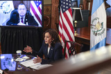 Photos From VP Harris holds a Virtual Bilateral meeting with President Alejandro Giammattei of Guatemala