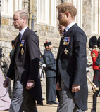 Peter Phillips Photo - Photo Must Be Credited Alpha Press 073074 17042021Prince William Duke of Cambridge Peter Phillips Prince Harry Duke of Sussex follow Prince Philip Duke of Edinburghs coffin on a modified Jaguar Land Rover during the Ceremonial Procession during the funeral of Prince Philip Duke of Edinburgh at St Georges Chapel in Windsor Castle in Windsor Berkshire No UK Rights Until 28 Days from Picture Shot Date AdMedia
