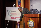 Photo - United States Senate Majority Leader Chuck Schumer (Democrat of New York) offers remarks on Child Tax Credit Payments