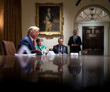 Photo - Donald Trump Meets Governors Hutchinson and Kelly