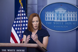 Photo - White House Press Secretary Jen Psaki holds a news conference in the James Brady Press Briefing Room of the White House