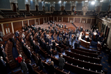 Photo - The House Chamber is seen during a joint session of Congress to count the Electoral College votes from the 2020 presidential election on Wednesday January 6 2021Credit Greg Nash  Pool via CNPAdMedia