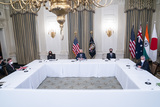 Antony Blinken Photo - From left to right United States National Security Advisor Jake Sullivan US Vice President Kamala Harris US President Joe Biden US Secretary of State Antony Blinken and Counselor to the President Jeffrey Zients meet virtually with their counterparts in the Quad Prime Minister Narendra Modi of India Prime Minister Scott Morrison of Australia and Prime Minister Yoshihide Suga of Japan from the State Dining Room of the White House in Washington DC USA 12 March 2021Credit Jim LoScalzo  Pool via CNPAdMedia