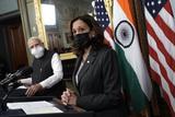Photos From Kamala Harris meets with Narendra Modi - Washington