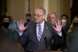 Photos From Senate Democrats policy luncheon press conference
