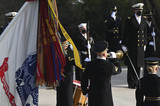 Photo - ARLINGTON VA - JANUARY 20 Member so the military participate in a wreath-laying ceremony at the Tomb of the Unknown Soldier January 20 2021 in Arlington National Cemetery in Arlington Virginia Credit Katherine Frey - Pool via CNPAdMedia