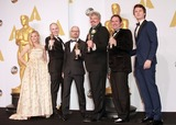 Andrew Lockley Photo - 22 February 2015 - Hollywood California -(L-R) Actress Chloe Grace Moretz Paul Franklin Scott R Fisher Andrew Lockley and Ian Hunter winners of the Best Visual Effects Award for Interstellar and actor Ansel Elgort pose in the press room during the 87th Annual Academy Awards presented by the Academy of Motion Picture Arts and Sciences held at the Dolby Theatre Photo Credit Theresa BoucheAdMedia