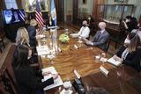 Photo - VP Harris holds a Virtual Bilateral meeting with President Alejandro Giammattei of Guatemala