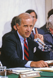 Anita Hill Photo - United States Senator Joseph Biden (Democrat of Delaware) Chairman US Senate Judiciary Committee makes his opening statement prior to hearing the testimony of Professor Anita Hill during the hearings to confirm Judge Clarence Thomas as Associate Justice of the US Supreme Court in the US Senate Caucus Room in Washington DC on October 10 1991  Thomas was nominated for the position by US President George HW Bush on July 1 1991 to replace retiring Justice Thurgood MarshallCredit Arnie Sachs  CNPAdMedia