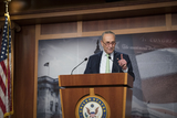 Photos From Senate Minority Leader Chuck Schumer Press Conference