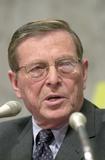 Photo - Domenici Listens to Greenspan