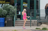 Photos From Frenchy Morgan Spotted Getting Coffee in Malibu