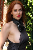 Photo - Maitland Ward in a Daring See-Thru Top at Comic-Con