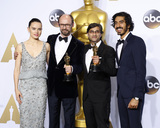 Asif Kapadia Photo - LOS ANGELES - FEB 28  Daisy Ridley James Gay-Rees Asif Kapadia Dev Patel at the 88th Annual Academy Awards - Press Room at the Dolby Theater on February 28 2016 in Los Angeles CA