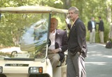 Andy Card Photo - United States Vice President Dick Cheney and White House Chief of Staff Andy Card watch as US President George W Bush and President Hosni Mubarak of Egypt answer reporters questions on the Middle East at Camp David Maryland on Saturday June 8 2002Credit Greg E Mathieson - Pool via CNP