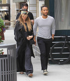 Photos From Chrissy Teigen and John Legend are seen in Beverly Hills