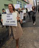 Photos From Vegan Demonstration praise Joaquin Phoenix