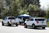 Photos From Coronavirus COVID-19 Drive-Through Testing Center At Hansen Dam Park In Pacoima, Los Angeles, Califo