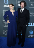 Photo - SANTA MONICA LOS ANGELES CA USA - JANUARY 13 Actress Amy Adams and husband Darren Le Gallo arrive at the 24th Annual Critics Choice Awards held at the Barker Hangar on January 13 2019 in Santa Monica Los Angeles California United States (Photo by Xavier CollinImage Press Agency)