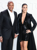 Dr Dre Photo - HOLLYWOOD LOS ANGELES CALIFORNIA USA - FEBRUARY 07 Dr Dre and Nicole Young arrive at the Tom Ford AutumnWinter 2020 Fashion Show held at Milk Studios on February 7 2020 in Hollywood Los Angeles California United States (Photo by Xavier CollinImage Press Agency)
