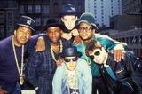 Ad-Rock Photo - Run-dmc (Run Jam Master Jay and Dmc) with the Beastie Boys (King Ad Rock Mca and Mike D) PhotoGlobe Photos Inc Obit