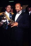 Photo - Michael Jackson and Quincy Jones Grammy Awards 02-1984 Photo by Phil Roach-ipol-Globe Photos